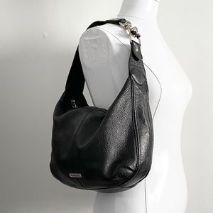 Coach Avery Hobo Bag Small Purse Pebbled Leather